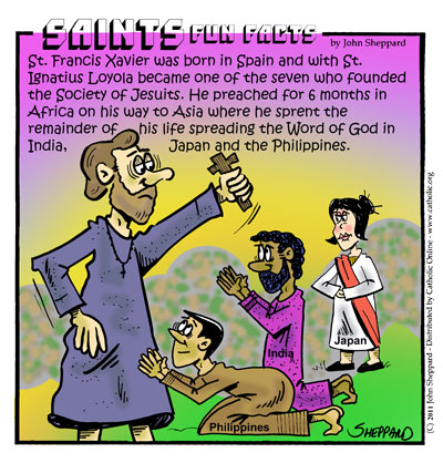 Saints Fun Facts for St. Francis Xavier