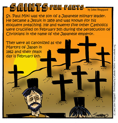 Saints Fun Facts for St. Paul Miki