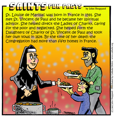 Saints Fun Facts for St. Louise de Marillac