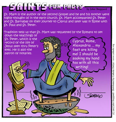 Saints Fun Facts for St. Mark