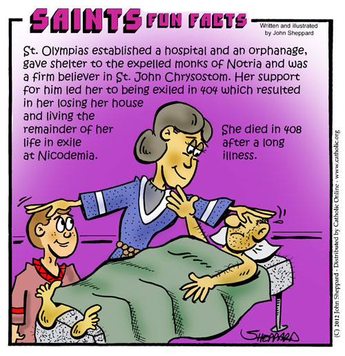 Saints Fun Facts for St. Olympias