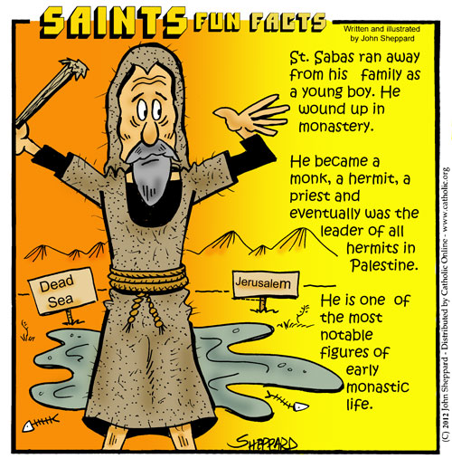 Saints Fun Facts for St. Sabas