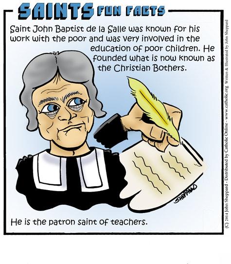 Bible Quotes About St John The Baptist: Saints Fun Facts: St. John Baptist De La Salle