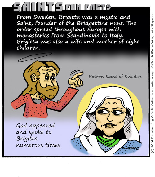 Saints Fun Facts for St. Bridget of Sweden