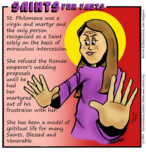 Saints Fun Facts for St. Philomena