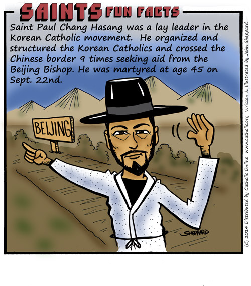 Saints Fun Facts for St. Paul Chong Hasang