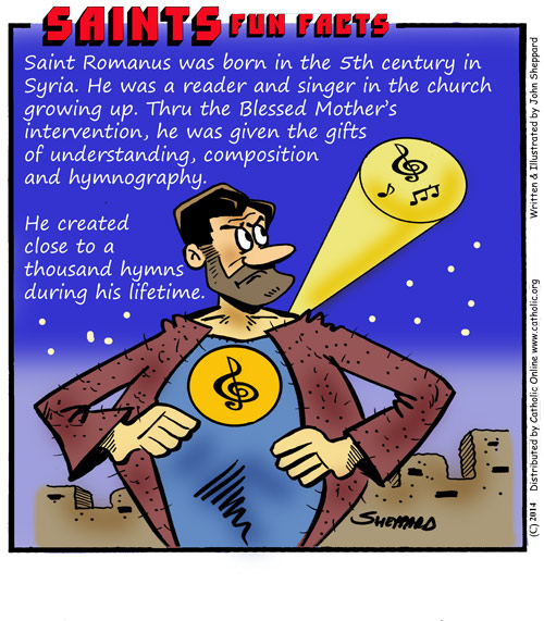 St. Romanus the Melodist Fun Fact Image