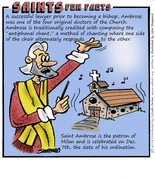 Saints Fun Facts for St. Ambrose