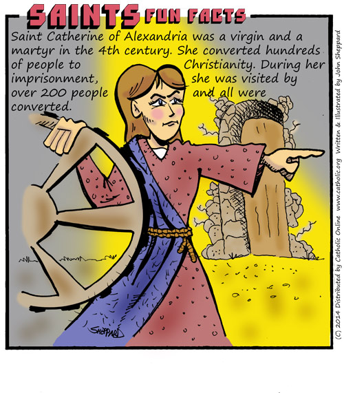Saints Fun Facts for St. Catherine of Alexandria