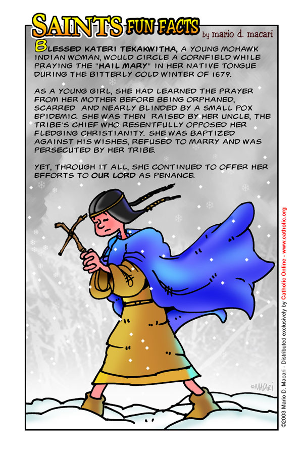 Saints Fun Facts for St. Kateri Tekakwitha