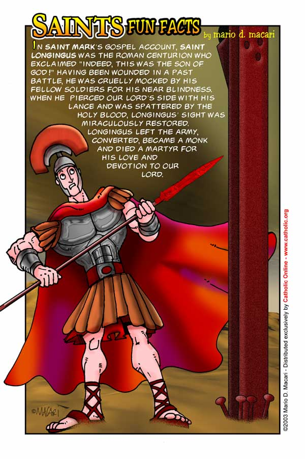 Saints Fun Facts for St. Longinus