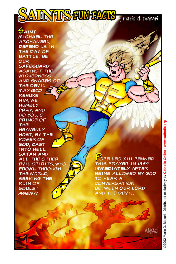 image relating to St. Michael the Archangel Prayer Printable titled Saints Enjoyable Details: St. Michael the Archangel - Saints