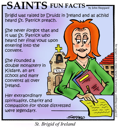Saints Fun Facts for St. Brigid of Ireland
