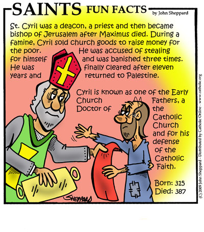 Saints Fun Facts for St. Cyril of Jerusalem