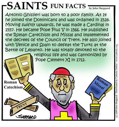 St. Pius V, Pope Fun Fact Image