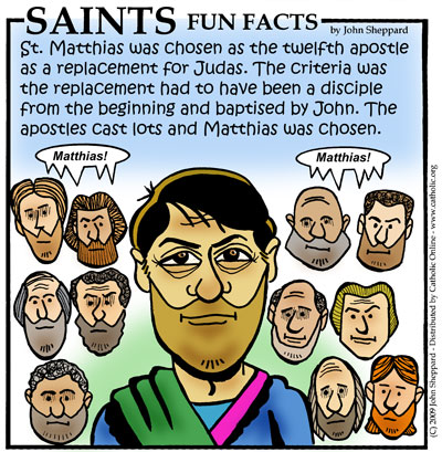 Saints Fun Facts for St. Matthias