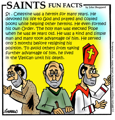 Saints Fun Facts for St. Celestine