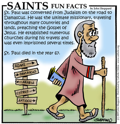 Saints Fun Facts for St. Paul