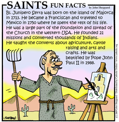Saints Fun Facts for Bl. Junipero Serra