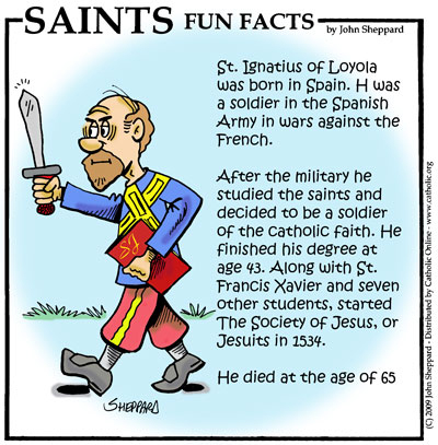 Saints Fun Facts for St. Ignatius Loyola