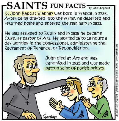 Saints Fun Facts for St. John Vianney