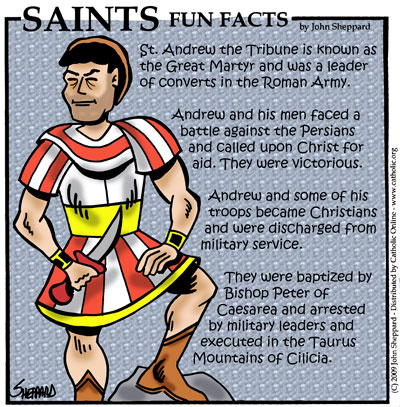 Saints Fun Facts for St. Andrew the Tribune