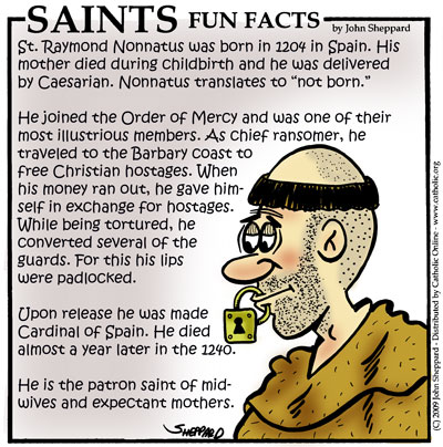 Saints Fun Facts for St. Raymond Nonnatus
