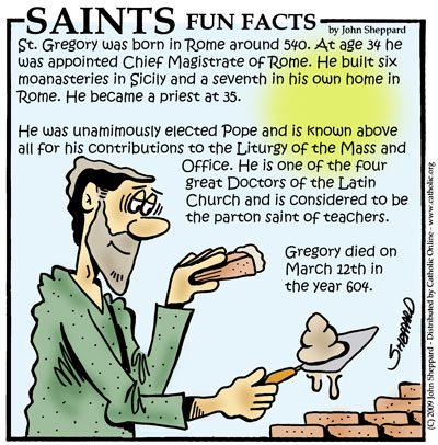 Saints Fun Facts for Pope Saint Gregory the Great