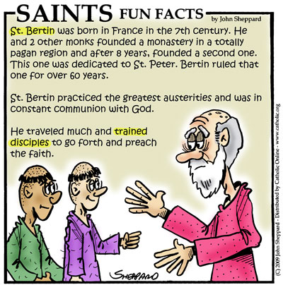 Saints Fun Facts for St. Bertin