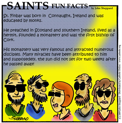 Saints Fun Facts for St. Finbar