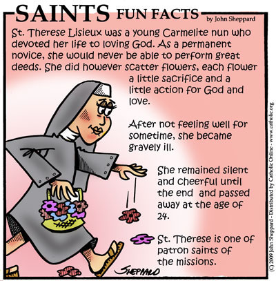 Saints Fun Facts for St. Therese of Lisieux