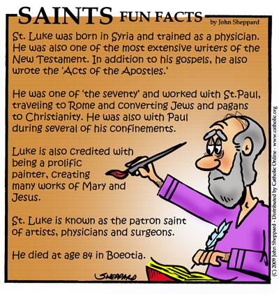 Saints Fun Facts for St. Luke