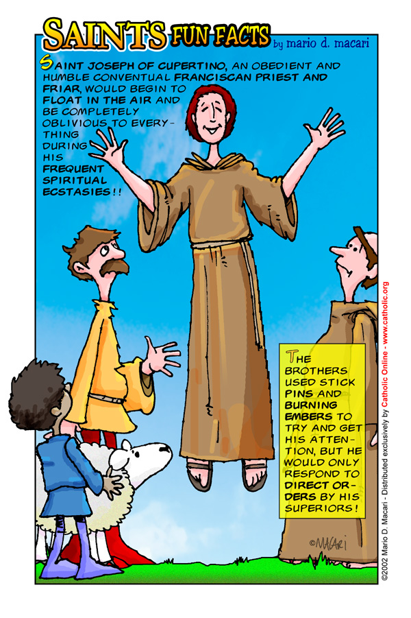 Saints Fun Facts for St. Joseph of Cupertino