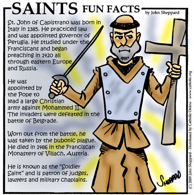 Saints Fun Facts for St. John of Capistrano