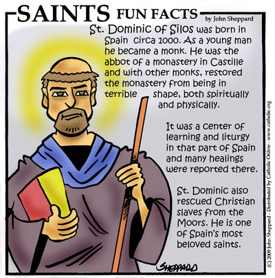 Saints Fun Facts for St. Dominic of Silos