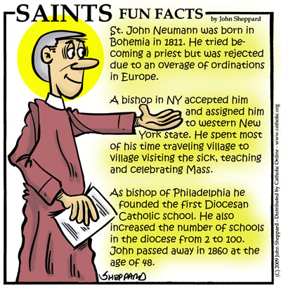 Saints Fun Facts for St. John Neumann