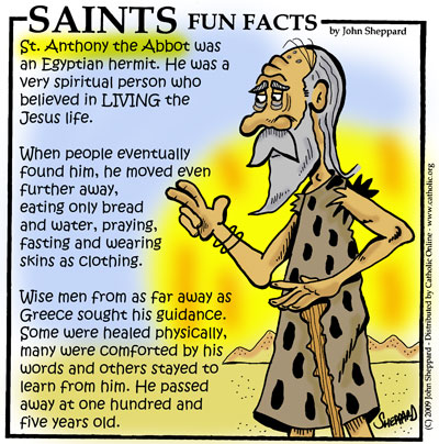 Saints Fun Facts for St. Anthony the Abbot