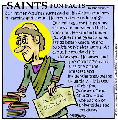 St. Thomas Aquinas Fun Fact Image