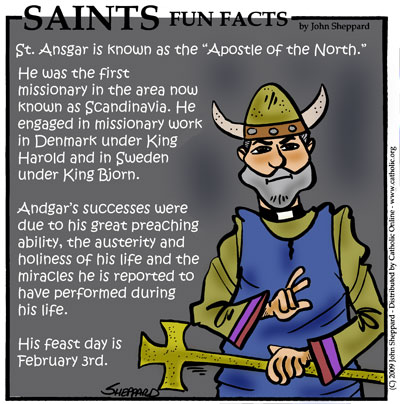 Saints Fun Facts for St. Ansgar