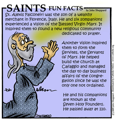 Saints Fun Facts for St. Alexis Falconieri