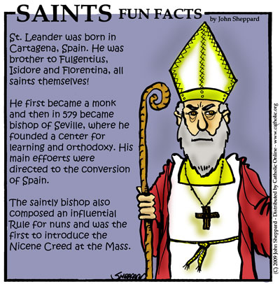 Saints Fun Facts for St. Leander of Seville