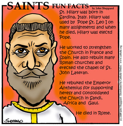 St. Hilary, Pope Fun Fact Image