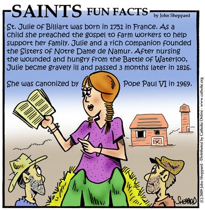 Saints Fun Facts for St. Julie Billiart