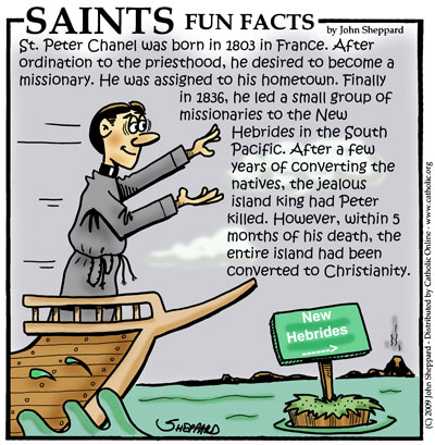Saints Fun Facts for St. Peter Chanel