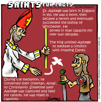 Saints Fun Facts for St. Alphege