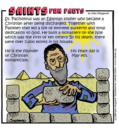 Saints Fun Facts for St. Pachomius
